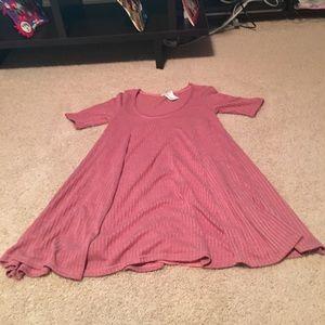 Pink short sleeve swing dress never worn